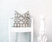 "Geometric- Peruvian- Decorative Pillow Cover - 13x20"" Lumbar"