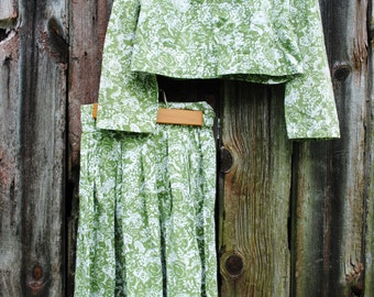 Into the Woods Cropped jacket and Skirt Set in Amazing Animals Forrest Print