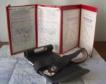 Vintage Aviator In Flight Kneeboard Flight Plan Storage Aviation Memorabilia 1960s