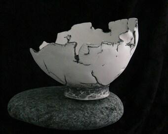 Hand Built Porcelain Decorative Bowl