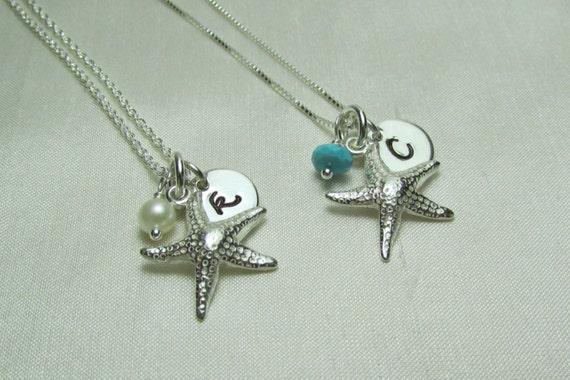 Beach Wedding Bridesmaid Gifts: Bridesmaid Necklace Set Of 3 Bridesmaid Gift Beach Wedding