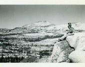 "Vintage Photo ""Top of the World"" Mountain Snapshot Photo Antique Photo Black & White Photograph Found Photo Paper Ephemera Vernacular - 02"