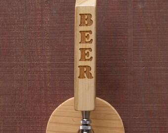 """Engraved """"BEER"""" Tap Handle"""