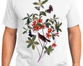 Brown headed Warbler Bird Retro Men & Ladies T-shirt - Gift for Bird Lovers and Ornithologist (idc198)
