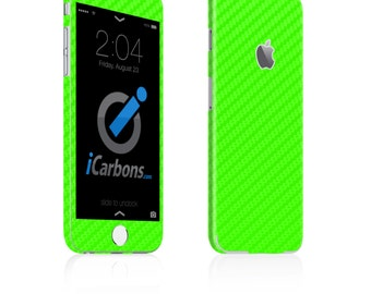 iCarbons Green Carbon Fiber iPhone 6 / 6 Plus / 6S / 6S Plus Skin Decal FULL COMBO