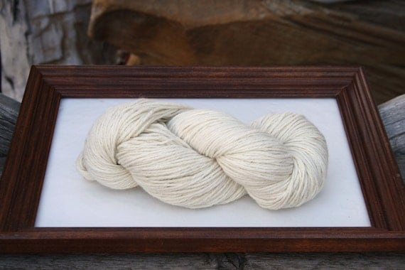 SUPER-SIZED SKEIN! Royal Baby Alpaca Yarn Bulky Weight Natural White 200 grams