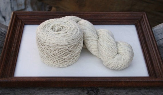 Royal Baby Alpaca Yarn Worsted Weight Natural White 100 grams