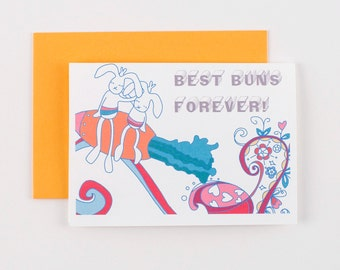 Best Buns Forever Greeting Card