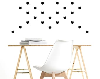 Vinyl Decal Stickers. Wall Pattern: Cats