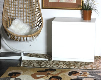 """SALE Los Musicos Art Vintage 70s Floor Rug Peruvian Wool Rug Home Decor Wall Hanging Handmade in Peru Blanket Rug 72"""" x  74"""""""