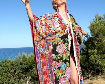 One of a Kind Sequined Kimono | Queen's or King's Dream Coat
