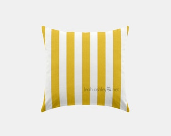 Square Pillow Cover - Corn Yellow Stripe - S1
