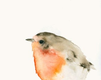 Bird Art Card Robin Blank Greeting Card