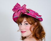 1940s vintage hat / halo hat / New York Creations
