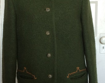 Austrian green Loden Jacket