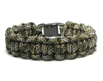 Paracord Bracelet Infiltrate Olive Tan Camo Black Fleck Camouflage Gear Hunting Survival Accessory Nature Outdoorsmen Military Army Veteran