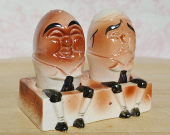 Vintage Humpty Dumpty Salt and Pepper Shakers