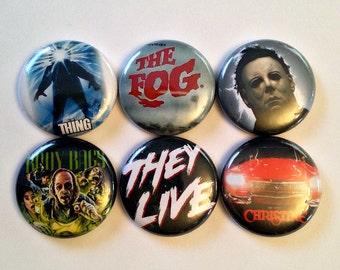 "John Carpenter's Horror Films - 1"" Button Choose Your Own"