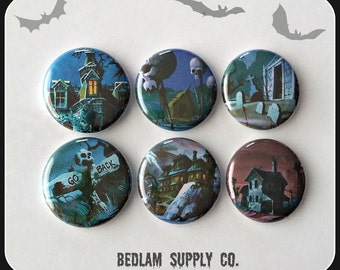 """Scooby Doo Houses and Backgrounds - 1"""" Button Choose Your Own"""