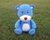 Large Blue Huggable Teddy Bear