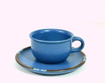 Vintage Dansk Mesa Sky Blue Cup and Saucer