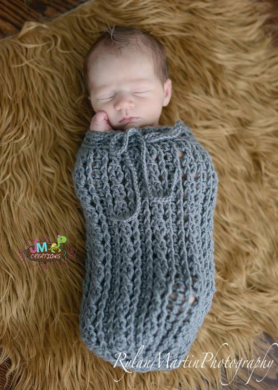 Crochet Pattern For Shell Baby Blanket : Crochet Pattern for Double Helix Baby Swaddle Sack or Cocoon