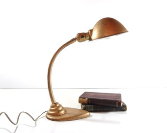 Vintage Gooseneck Desk Lamp, Industrial Lighting