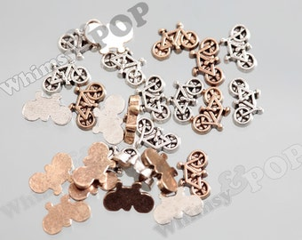 Gold or Silver Tone Bike Bicycle Floating Memory Charms, Floating Charm, Memory Charm, 8mm x 5mm ...