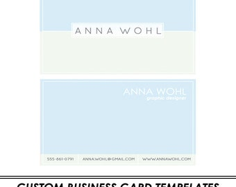 Pastels Custom Business Card Template