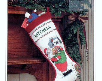 Christmas Traditions Stocking SANTA CLAUS By Cathy Livingston - Counted Cross Stitch Pattern Chart