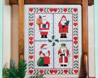Better Homes and Gardens SANTA CLAUS SAMPLER By Nancy Rossi Of Kooler Design Studio - Counted Cross Stitch Pattern Chart
