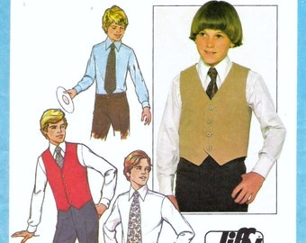 Boys Vest and Tie Pattern Simplicity 8324 (Boys sizes 14 and 16)