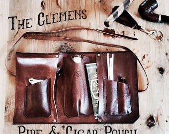 Clemens Leather Cigar, Pipe & Tobacco Pouch
