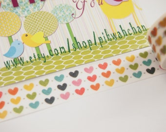Colorful Heart Washi Tape (10M)