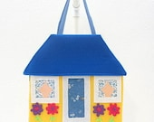 portable doll house, paper doll game, quiet book, felt board, travel toy doll, cloth paper doll KP117