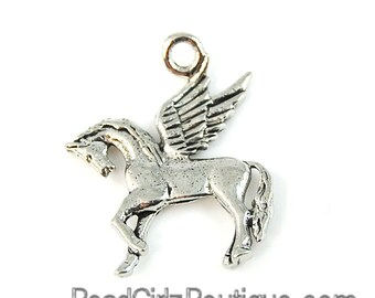 Pegasus Silver Pewter Charm -1