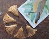 Hanging Lotus Flower Brass Finding