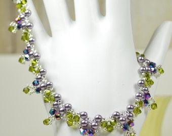 Forever Bouquet Garden Swarovski Crystal Bracelet