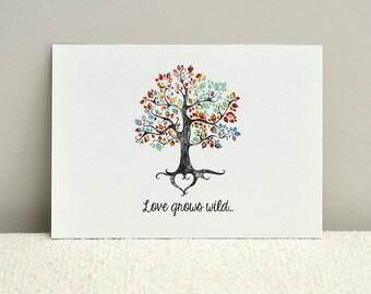 Love Grows Wild / Anniversary or Valentine Card / Customizable DIY Printable Card