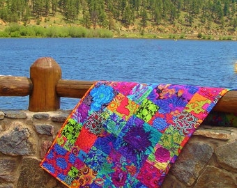 SUNLIGHT in the FOREST--Private Listing --Kaffe Fassett Designed Quilt