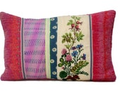Pillow, embroidered, cross stitch, Field Flowers, 15,7x23,6 inch, cushion cover