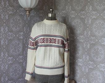 Vintage 1960's Jantzen Snowflake Sweater XL