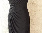 1970s Sexy Vintage Black Dress