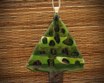 Art Glass Christmas Tree Ornament- 100% Proceeds Donated- Christmas Collectable & Free Shipping