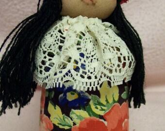 Vintage Souvenir of Hawaii Original Artist Design Doll Handcrafted by Virginia Black 1987 Hawaiian Polynesian