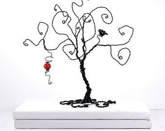 halloween tree sculpture - Black Halloween Tree