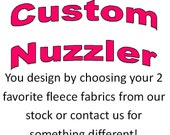CUSTOM Nuzzler - Infant Car Seat Cover, Warm Polartec 200 - Design your own, choose 2 fabrics.