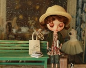 Miss yo 2015 Summer & Autumn - Mori Style Knitted Sweater Coat for Blythe doll - dress / outfit - Green