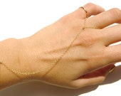 Slave Bracelet,14kt Gold Filled Chain, Simple Slave Bracelet, Hand Chain, Indian Hand Chain, Body Chain, Wedding Jewelry