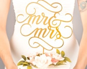 Mr and Mrs Cake Topper - Wedding Cake Topper - Classic Collection